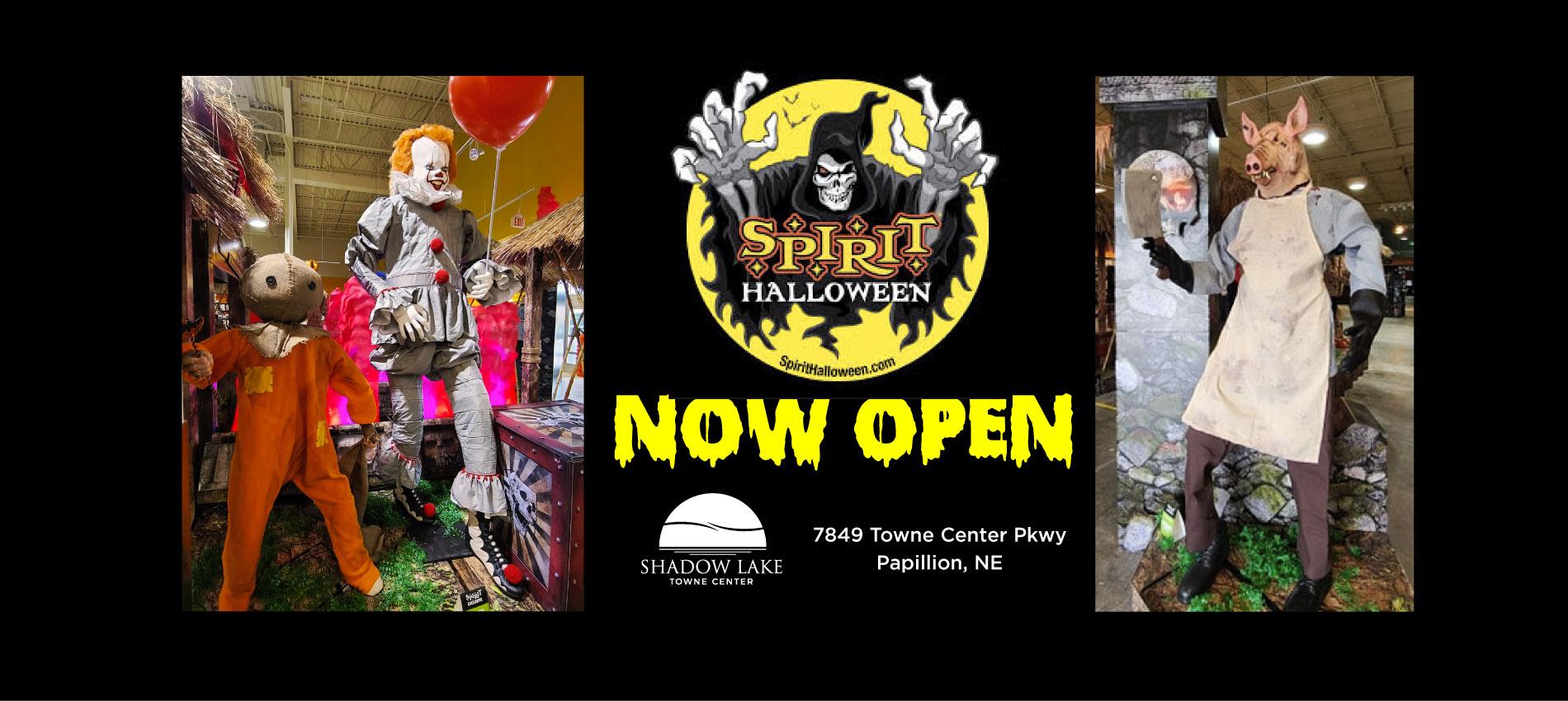 Now open Spirit Halloween